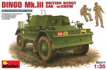 MiniArt Dingo Mk.III British Scout Car w/Crew makett