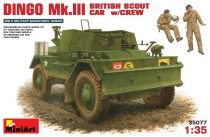 MiniArt Dingo Mk.III British Scout Car w/Crew makett