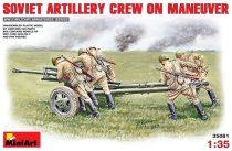MiniArt Soviet Artillery Crew on Maneuver makett