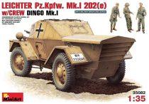 MiniArt Leichter PzKpfWg Mk. I 202 with Crew Dingo Mk. I makett