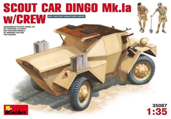 MiniArt British Scout Car DINGO Mk.Ia with crew makett