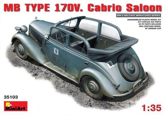 MiniArt MB Typ 170V. Cabrio Saloon makett