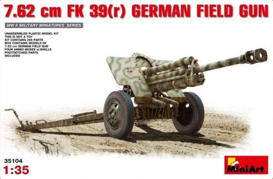 MiniArt 7,62cm F.K.39 German Field Gun makett