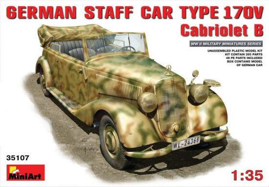 MiniArt German Staff Car Typ 170V Cabriolet B makett