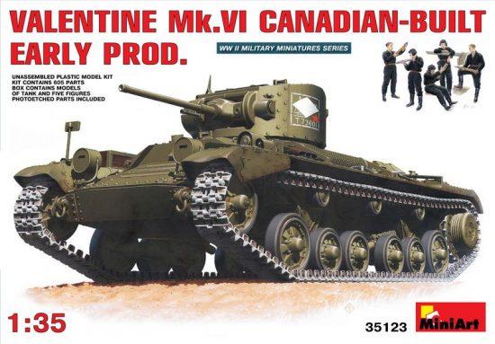 MiniArt Valentine Mk 6. Canadian - built Early P makett