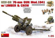 MiniArt USV-BR 76mm Gun Mod.1941 w/Limber & Crew makett