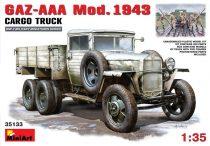 MiniArt GAZ-AAA. Mod. 1943. Cargo Truck makett