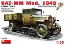 MiniArt GAZ-MM.Mod. 1943. Cargo Truck makett