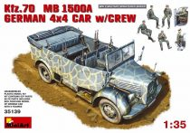MiniArt Kfz. 70 (MB L1500A)German 4x4 Car w/Crew makett