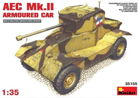 MiniArt AEC Mk 2 Armoured Car makett