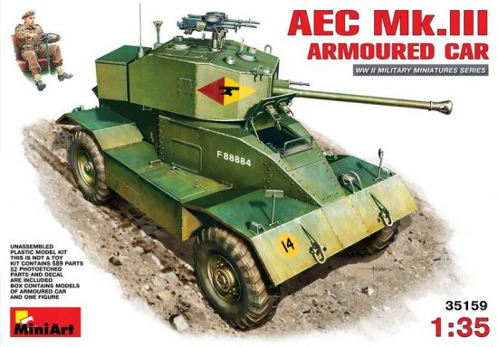MiniArt AEC Mk 3 Armoured Car makett
