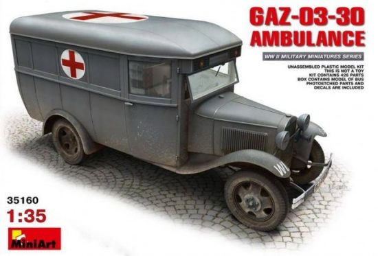 MiniArt GAZ-03-30 Ambulance makett