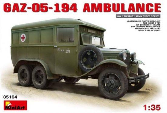 MiniArt GAZ-05-194 Ambulance makett