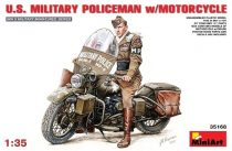 MiniArt U.S.Millitary Policeman with Motorcycle makett