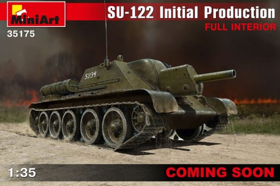 MiniArt SU-122 Initial Production w/Full Interior makett