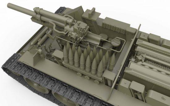 MiniArt SU-122 Initial Production w/Full Interior makett