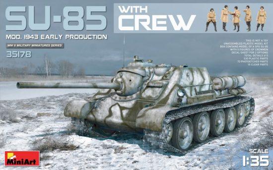 MiniArt SU-85 Mod.1943 (Early) w/Crew makett