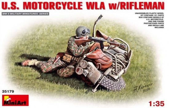 MiniArt U.S.Motorcycle WLA with Rifleman