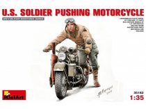MiniArt U.S. Soldier Pushing Motorcycle