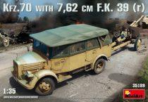 MiniArt Kfz.70 & 7,62 cm F.K. 39(r) makett