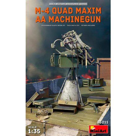 MiniArt M-4 QUAD MAXIM AA MACHINEGUN makett