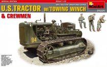 MiniArt U. S. Tractor w/Towing Winch & Crewmen makett