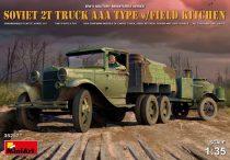 MiniArt Soviet 2t Truck AAA Type w/Field Kitche makett