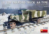 MiniArt 1,5 TON RAILROAD TRUCK AA TYPE makett