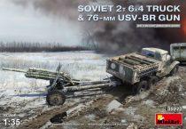 MiniArt SOVIET 2T 6X4 TRUCK & 76-mm USV-BR GUN makett