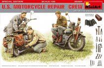 MiniArt U.S. Motocycle Repair Crew makett