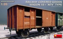 "Miniart  Railway Covered Goods Wagon 18 t ""NTV"" Type makett"