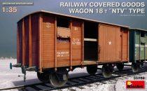 """Miniart  Railway Covered Goods Wagon 18 t """"NTV"""" Type makett"""