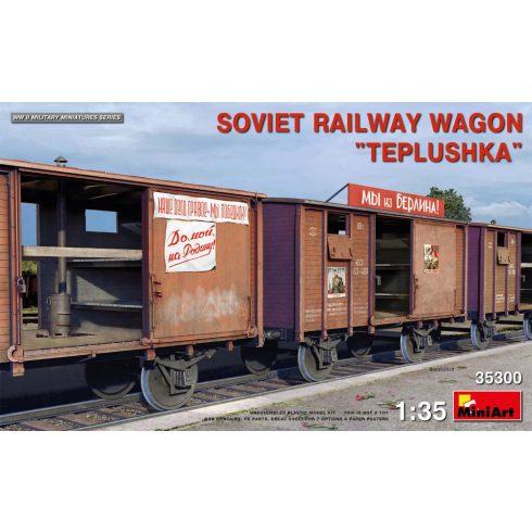 """Miniart Soviet Railway Wagon """"Teplushka"""" makett"""