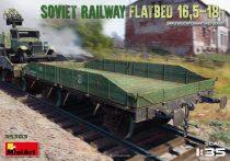 Miniart Soviet Railway Flatbed 16,5-18t makett