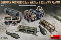 MiniArt GERMAN ROCKETS 28cm WK Spr & 32cm WK FLAMM
