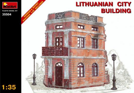 MiniArt Ruined Lithuanian City Building