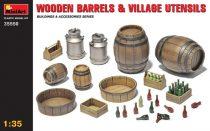 MiniArt Wooden Barrels and Village utensils