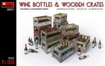 MiniArt Wine Bottles & Wooden Crates