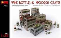 MiniArt Wine Bottles & Wooden Crates