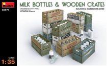 MiniArt Milk Bottles & Wooden Crates
