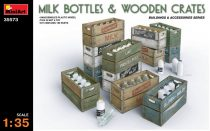 MiniArt Milk Bottles & Wooden Crates