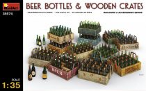 MiniArt Beer Bottles & Wooden Crates