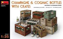 MiniArt Champagne & Cognac Bottles w/Crates