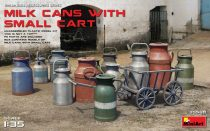 MiniArt Milk Cans with Small Cart