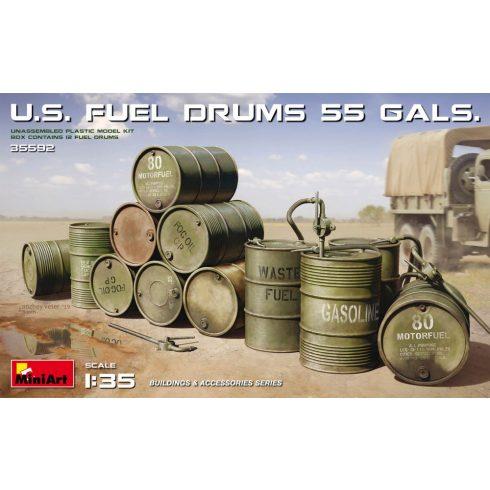 MiniArt U.S. FUEL DRUMS 55 GALS.