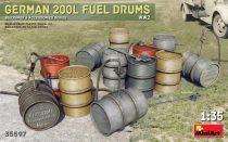 MiniArt German 200L Fuel Drum Set WW2