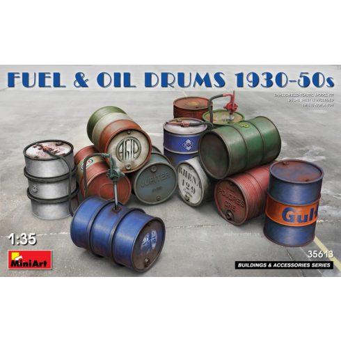 MiniArt FUEL & OIL DRUMS 1930-50s
