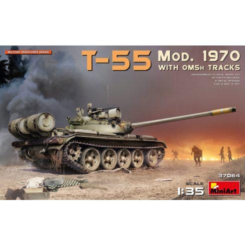 MiniArt T-55 Mod. 1970 w/OMSh Tracks makett
