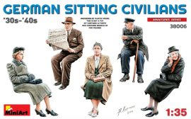 MiniArt German Sitting Civilians'30s-'40s