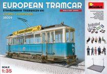 MiniArt European Tramcar with Crew & Passengers makett